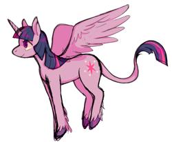 Size: 910x750 | Tagged: safe, artist:horsepaws, twilight sparkle, alicorn, pony, cloven hooves, leonine tail, profile, simple background, solo, twilight sparkle (alicorn), unshorn fetlocks, white background