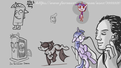 Size: 1920x1080 | Tagged: safe, artist:ponyhell, twilight sparkle, human, pony, unicorn, atg 2020, cellphone, computer, earbuds, holding a pony, newbie artist training grounds, phone, smartphone
