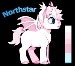 Size: 810x713   Tagged: safe, artist:lastnight-light, oc, oc:northstar, alicorn, bat pony, bat pony alicorn, pony, bat wings, horn, male, simple background, solo, transparent background, wings