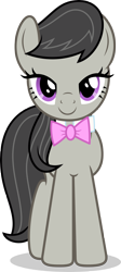 Size: 2000x4479   Tagged: safe, artist:luckreza8, octavia melody, earth pony, pony, a horse shoe-in, cute, female, happy, mare, simple background, solo, tavibetes, transparent background, vector