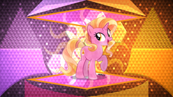 Size: 3840x2160 | Tagged: safe, artist:laszlvfx, artist:orin331, edit, luster dawn, crystal pony, pony, crystallized, solo, wallpaper, wallpaper edit