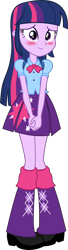 Size: 2743x10127 | Tagged: safe, artist:firesidearmy46231, twilight sparkle, equestria girls, equestria girls (movie), blushing, cute, female, looking at you, simple background, solo, transparent background, twiabetes, twilight sparkle (alicorn), vector