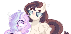 Size: 1280x612 | Tagged: safe, artist:frostbases, artist:moon-rose-rosie, oc, oc only, oc:moon rose, oc:theodosia, alicorn, pegasus, pony, base used, female, filly, mare, simple background, transparent background