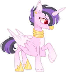Size: 1890x2070 | Tagged: safe, artist:kurosawakuro, oc, alicorn, hippogriff, simple background, solo, transparent background