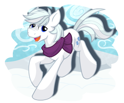 Size: 1800x1500 | Tagged: safe, artist:geraritydevillefort, double diamond, earth pony, pony, clothes, happy, male, scarf, simple background, snow, solo, stallion, transparent background