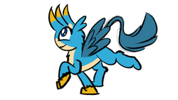 Size: 2400x1350 | Tagged: safe, artist:ashtoneer, gallus, griffon, /mlp/ con, beakless, no beak, sketches from a hat, solo