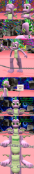 Size: 1920x9720 | Tagged: safe, artist:papadragon69, spike, dragon, comic:spike's cyosa, 3d, breaking, breaking the fourth wall, chains, choice, choose your own adventure, comic, cyoa, dialogue, fourth wall, male, older, older spike, sfm pony, source filmmaker, teenage spike, teenager, winged spike