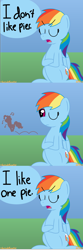 Size: 1536x4608   Tagged: safe, artist:colorcodetheartist, pinkie pie, rainbow dash, secrets and pies, comic, dialogue, female, lesbian, music notes, pinkiedash, shipping, silhouette