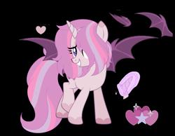 Size: 5952x4624 | Tagged: safe, artist:stardazedsky, oc, oc:acid rain, alicorn, bat pony, bat pony alicorn, pony, absurd resolution, bat wings, female, horn, mare, simple background, solo, transparent background, wings