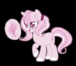Size: 400x348 | Tagged: safe, artist:rose-moonlightowo, oc, oc only, pony, unicorn, female, glasses, magic, magical lesbian spawn, mare, offspring, parent:fluttershy, parent:twilight sparkle, parents:twishy, simple background, solo, transparent background