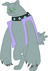 Size: 365x538 | Tagged: safe, artist:notorious dogfight, oc, oc only, oc:berlioz, diamond dog, fanfic:mythic dawn, fanfic art, simple background, solo, transparent background