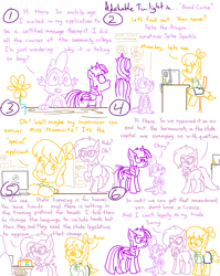 Size: 4779x6013 | Tagged: safe, artist:adorkabletwilightandfriends, grace manewitz, spike, twilight sparkle, oc, oc:isabelle, alicorn, dragon, earth pony, pony, comic:adorkable twilight and friends, adorkable, adorkable twilight, bureaucracy, butt, chair, clothes, comic, computer, courthouse, cute, dork, glasses, government, plot, red tape, sitting, skirt, twilight sparkle (alicorn), upset