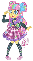 Size: 1108x2055 | Tagged: safe, artist:tassji-s, pretty pop, equestria girls, g3, g3 to equestria girls, g3 to g4, generation leap, simple background, solo, transparent background
