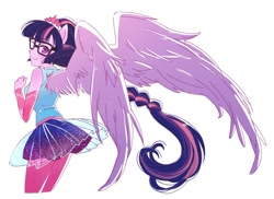 Size: 1122x819 | Tagged: safe, artist:5mmumm5, sci-twi, twilight sparkle, equestria girls, equestria girls series, female, scitwilicorn, wings