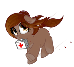 Size: 761x686 | Tagged: safe, artist:neuro, oc, oc only, oc:honour bound, earth pony, pony, /mlp/, 4chan, cute, everyday life with guardsmares, female, guardsmare, mare, medikit, royal guard, simple background, solo, transparent background