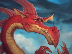 Size: 1080x810 | Tagged: safe, artist:assasinmonkey, basil, dragon, dragonshy, bust, detailed, hoofprint, male, portrait, scene interpretation, signature, smoke, solo