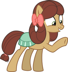 Size: 4000x4235 | Tagged: safe, artist:melisareb, yona, earth pony, pony, she's all yak, .svg available, absurd resolution, cute, female, inkscape, mare, ponified, pony yona, raised hoof, ribbon, show accurate, simple background, smiling, solo, species swap, transparent background, vector, yonadorable