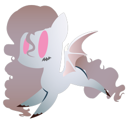Size: 2100x2100   Tagged: safe, artist:captshowtime, part of a set, oc, oc only, oc:midnight mist, bat pony, pony, chibi, commission, cute, icon, simple background, solo, transparent background, ych result
