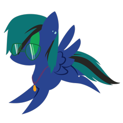 Size: 2100x2100 | Tagged: safe, artist:captshowtime, part of a set, oc, oc only, oc:ender, pegasus, pony, chibi, commission, cute, ear piercing, earring, glasses, icon, jewelry, necklace, pendant, piercing, simple background, solo, sunglasses, transparent background, ych result