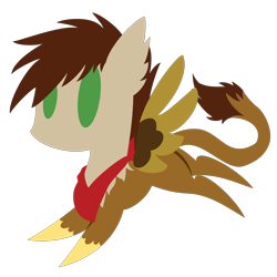 Size: 2100x2100 | Tagged: safe, artist:captshowtime, part of a set, oc, oc only, oc:swango, griffon, hippogriff, hybrid, pony, accessory, bandana, chibi, commission, cute, icon, simple background, solo, transparent background, ych result