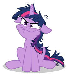 Size: 2800x3150 | Tagged: safe, artist:oyks, twilight sparkle, unicorn, crazy face, faic, floppy ears, insanity, messy mane, simple background, solo, transparent background, twilight snapple, unicorn twilight, vector