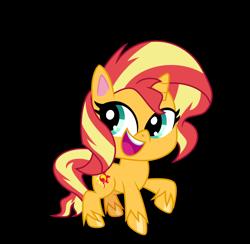 Size: 6200x6048 | Tagged: safe, artist:emeraldblast63, sunset shimmer, pony, unicorn, g4, my little pony: pony life, pony life, chibi, cute, g4 to g4.5, shimmerbetes, simple background, transparent background, vector