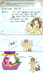 Size: 620x1060   Tagged: safe, artist:ask-pony-gerita, pinkie pie, earth pony, pegasus, pony, ask, caught, cloud, comic, dialogue, female, flying, germany, hetalia, hot air balloon, italy, male, mare, ponified, smiling, stallion
