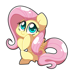 Size: 4096x4096 | Tagged: safe, artist:sugar morning, fluttershy, pegasus, pony, absurd resolution, cute, simple background, sitting, solo, transparent background