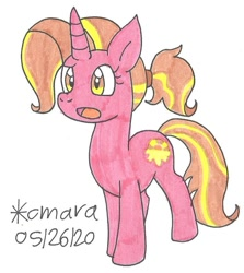 Size: 788x883 | Tagged: safe, artist:cmara, luster dawn, pony, unicorn, the last problem, confused, female, mare, solo, traditional art
