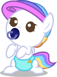 Size: 1280x1710 | Tagged: safe, artist:helenosprime, oc, oc:helenos, pony, baby, baby pony, pacifier, simple background, solo, transparent background
