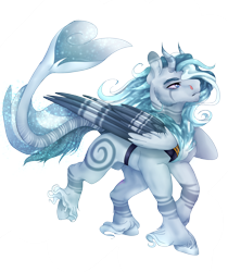 Size: 2100x2500 | Tagged: safe, artist:copshop, oc, pegasus, pony, augmented tail, cloven hooves, horns, male, simple background, solo, stallion, transparent background, two toned wings, wings