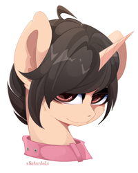 Size: 4000x5000 | Tagged: safe, artist:xsatanielx, oc, oc only, pony, collar, male, simple background, solo, white background