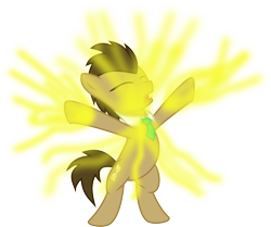 Size: 4000x3343 | Tagged: safe, artist:nero-narmeril, doctor whooves, time turner, pony, bipedal, high res, magic, regeneration, simple background, solo, transparent background, vector