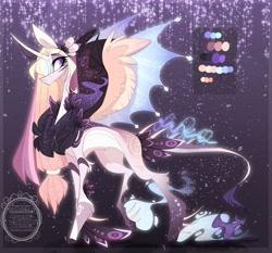 Size: 1024x956 | Tagged: safe, artist:manella-art, oc, oc:sunny moonlight, alicorn, pony, chest fluff, female, magical lesbian spawn, mare, offspring, parent:rainbow dash, parent:twilight sparkle, parents:twidash, solo