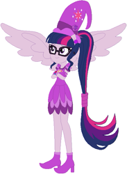 Size: 481x657 | Tagged: safe, artist:selenaede, artist:user15432, sci-twi, twilight sparkle, human, equestria girls, barely eqg related, base used, boots, clothes, cosplay, costume, crossed arms, crossover, cutie mark, ear piercing, earring, geode of telekinesis, glasses, gloves, hat, jewelry, magical doremi, magical geodes, ojamajo doremi, piercing, ponied up, scitwilicorn, shoes, wings, witch, witch apprentice, witch costume, witch hat