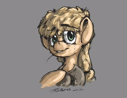 Size: 3300x2550   Tagged: safe, artist:th3ipodm0n, applejack, earth pony, pony, bust, eyebrows visible through hair, female, hat, hat off, looking at you, mare, portrait, simple background, solo, straw in mouth, three quarter view