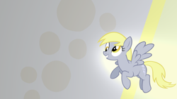 Size: 1920x1080 | Tagged: safe, artist:blackgryph0n, artist:illuminatiums, artist:rdbrony16, edit, derpy hooves, pegasus, pony, cutie mark, cutie mark background, derp, eyelashes, female, flying, full body, hooves, mane, mare, smiling, solo, tail, wallpaper, wallpaper edit, wings