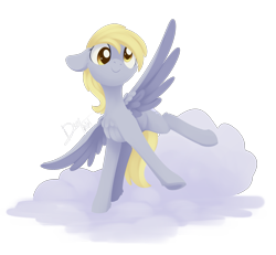 Size: 1719x1590 | Tagged: safe, artist:dusthiel, derpy hooves, pegasus, pony, cheek fluff, chest fluff, cloud, cute, derpabetes, female, floppy ears, leg fluff, mare, on a cloud, simple background, solo, transparent background