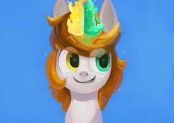 Size: 4096x2897   Tagged: safe, artist:toisanemoif, oc, oc only, pony, unicorn, bust, heterochromia, portrait, solo