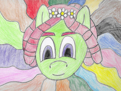 Size: 2000x1509 | Tagged: safe, artist:midnight-anomaly, derpibooru exclusive, tree hugger, pony, atg 2020, female, newbie artist training grounds, solo, traditional art