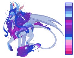 Size: 1280x996 | Tagged: safe, artist:yuyusunshine, oc, hybrid, female, magical lesbian spawn, offspring, parent:autumn blaze, parent:princess luna, reference sheet, simple background, solo, transparent background