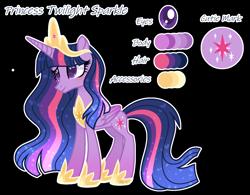 Size: 1408x1096 | Tagged: safe, artist:pancakeartyt, twilight sparkle, alicorn, pony, female, older, reference sheet, simple background, solo, transparent background, twilight sparkle (alicorn)