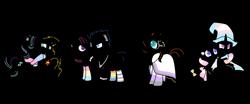 Size: 2893x1200 | Tagged: safe, artist:katnekobase, artist:kb-gamerartist, artist:kysss90, artist:ponybasesrus, artist:shiibases, flash sentry, minuette, starlight glimmer, sunburst, sunset shimmer, trixie, twilight sparkle, alicorn, pegasus, pony, unicorn, base used, bipedal, bisexual pride flag, boop, cape, clothes, ear piercing, earring, female, flashlight, glasses, grin, hat, hug, jewelry, lesbian, lesbian pride flag, lineart, male, mare, markings, minixie, necklace, nonbinary, nonbinary pride flag, noseboop, open mouth, pansexual, pansexual pride flag, piercing, pride, pride flag, pride month, rainbow socks, raised hoof, raised leg, robe, shimmerglimmer, shipping, simple background, smiling, socks, stallion, straight, straight ally, straight ally flag, striped socks, sunburst's cloak, sunburst's glasses, trans female, trans trixie, transgender, transgender pride flag, transparent background, trixie's cape, trixie's hat, twilight sparkle (alicorn), wall of tags, wristband