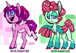 Size: 1409x975   Tagged: safe, artist:spudsmcfrenzy, oc, oc only, pegasus, pony, unicorn, chest fluff, colored hooves, colored sclera, female, male, mare, offspring, parent:cookie crumbles, parent:gentle breeze, parent:hondo flanks, parent:posey shy, parents:cookieflanks, parents:shys, simple background, stallion, transparent background, two toned wings, wings