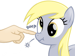 Size: 3700x2750 | Tagged: safe, artist:devfield, derpy hooves, human, pegasus, pony, atg 2020, boop, female, folded wings, glow, hand, lens flare, light, mare, newbie artist training grounds, offscreen character, offscreen human, scrunchy face, semi-transparent background, shadow, shine, show accurate, simple background, transparent background, wings