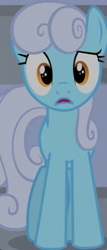 Size: 155x361 | Tagged: safe, screencap, linky, shoeshine, earth pony, pony, equestria games (episode), background pony, cropped, female, mare, open mouth, shocked, solo, wrong eye color