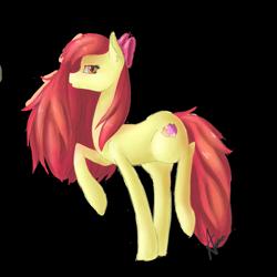 Size: 2449x2449   Tagged: safe, artist:wintershibe, apple bloom, earth pony, pony, older, older apple bloom, simple background, solo, transparent background