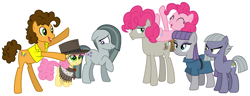 Size: 2099x810 | Tagged: safe, cheese sandwich, li'l cheese, limestone pie, marble pie, maud pie, mudbriar, pinkie pie, the last problem, aunt and nephew, brothers-in-law, cheesepie, family, family photo, father and child, father and son, female, heartwarming, husband and wife, lyrics in the description, male, maudbriar, mother and child, mother and son, offspring, parent and child, parent:cheese sandwich, parent:pinkie pie, parents:cheesepie, pie family, pie sisters, shipping, siblings, simple background, sisters, smiling, song reference, straight, white background, youtube link
