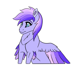 Size: 3241x3000 | Tagged: safe, artist:venommocity, oc, oc:astra, pegasus, pony, colored wings, female, mare, multicolored wings, offspring, parent:dumbbell, parent:rainbow dash, parents:dumbdash, simple background, solo, white background, wings