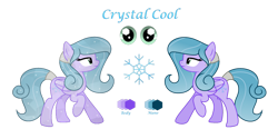 Size: 1280x640 | Tagged: safe, artist:darbypop1, oc, oc:crystal cool, crystal pony, pegasus, pony, crystallized, female, mare, simple background, solo, transparent background